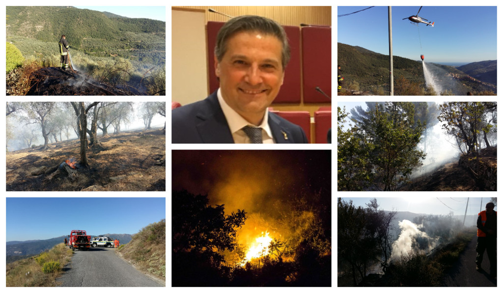 incendi boschivi assessore regionale stefano mai