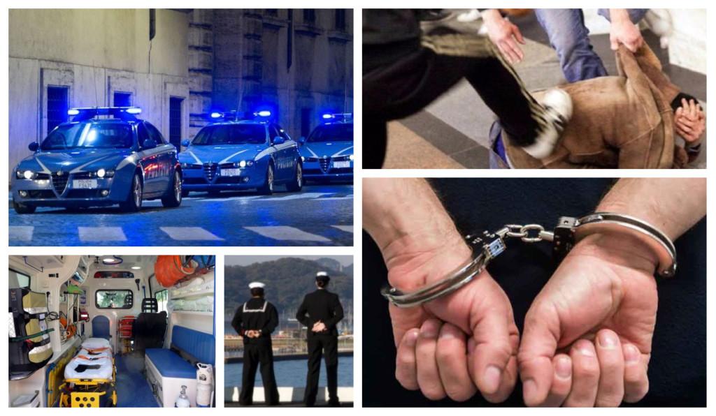 polizia aggressione lite marittimi coma