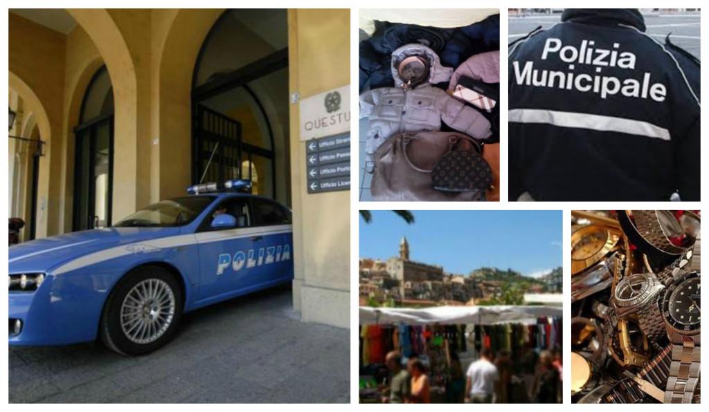 polizia controlli mercato ventimiglia articoli denuncia