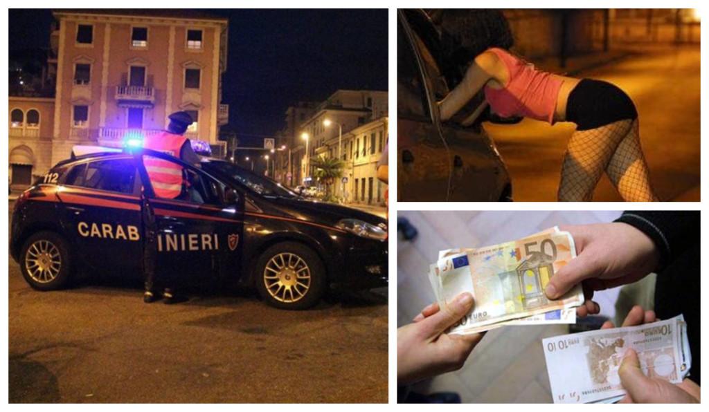carabinieri prostitute estrsione