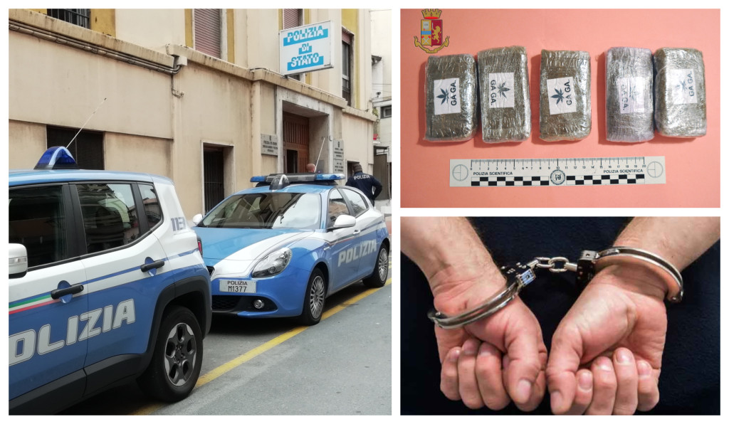 polizia arresto hashish bicicletta
