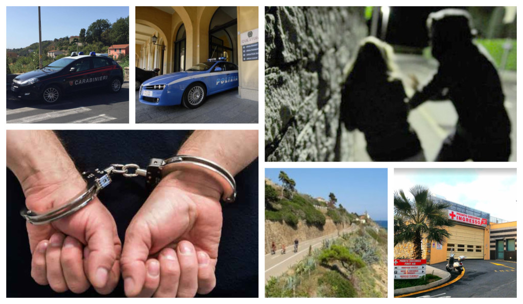 polizia carabinieri arresto violenza sessuale sanremo
