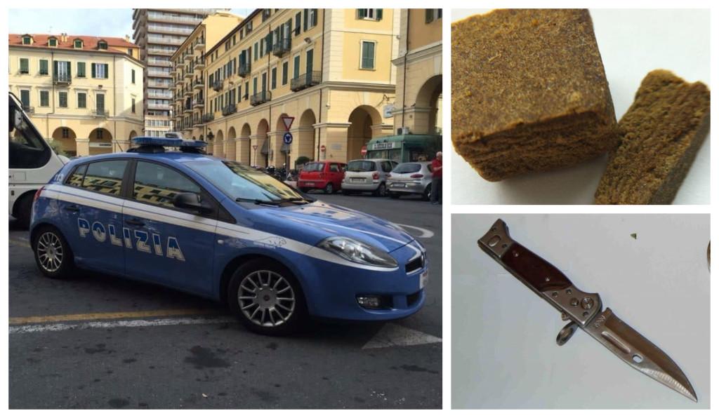 polizia denuncia hashish coltello (1)