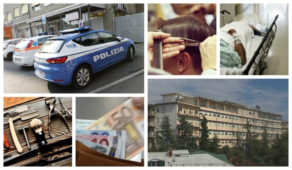 polizia smaschera finto barbiere ospedale