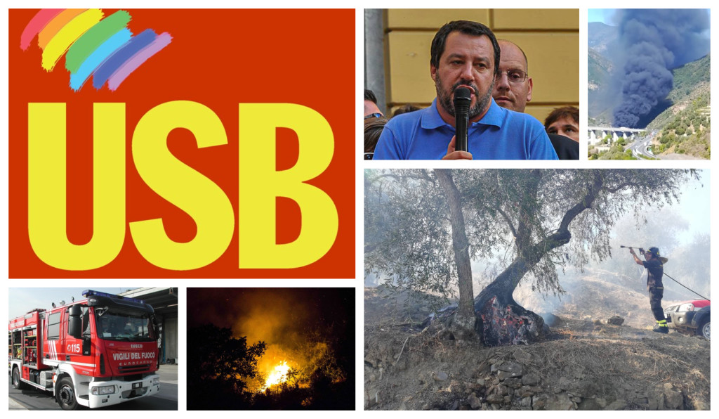 usb incendi vigili del fuoco ministro salvini