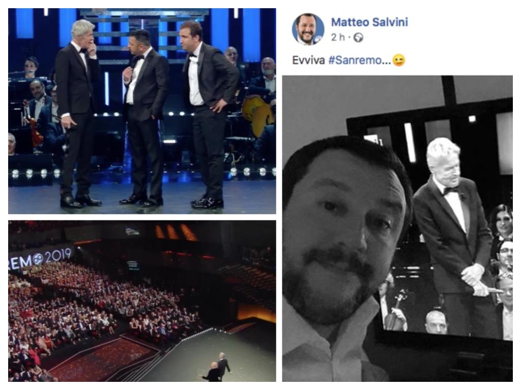 Sanremo 2019, Pio e Amedeo scherzano su Salvini con Baglioni