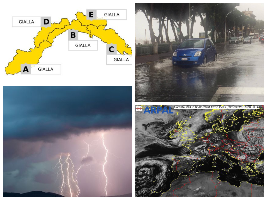 Pioggia e temporali, giovedì allerta meteo gialla su tutta la Liguria