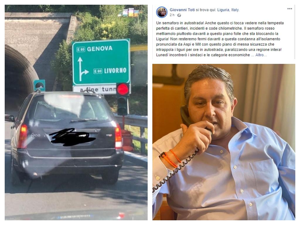 Liguria, traffico e code in autostrada: spunta anche un semaforo