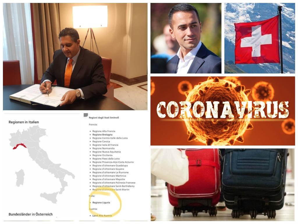 Pandemia Covid, Berna mette la Liguria tra le regioni a rischio